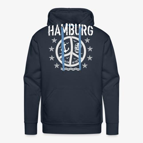 105 Hamburg Peace Anker Seil Koordinaten - Männer Premium Hoodie