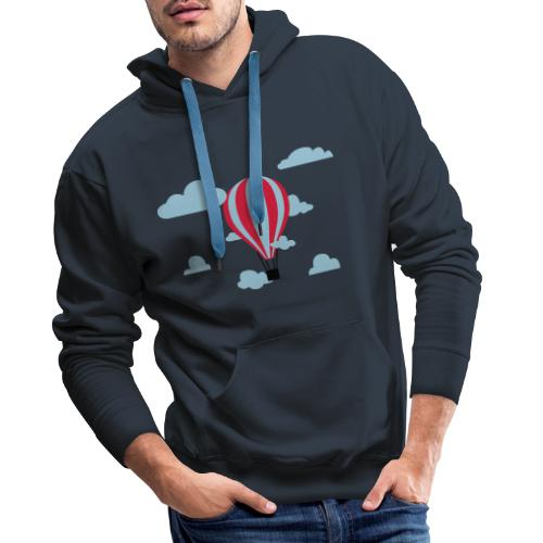 hot air balloon - Mannen Premium hoodie