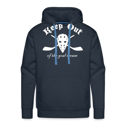 Keep Out Of The Goal Crease (Ice Hockey) - Men's Premium Hoodie