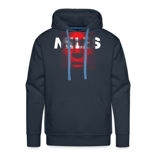 Miles Davis - Bluza męska Premium z kapturem