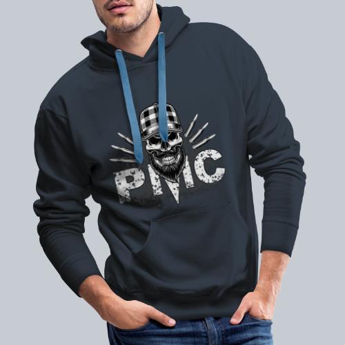 PMC Skull white - Männer Premium Hoodie
