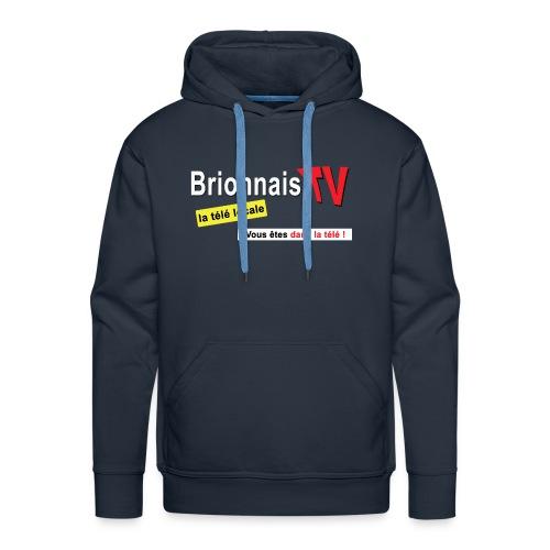 BTV logo shirt dos - Sweat-shirt à capuche Premium pour hommes