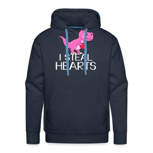 I steal hearts T-Rex - Männer Premium Hoodie