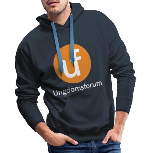 UF logo - Premium hettegenser for menn