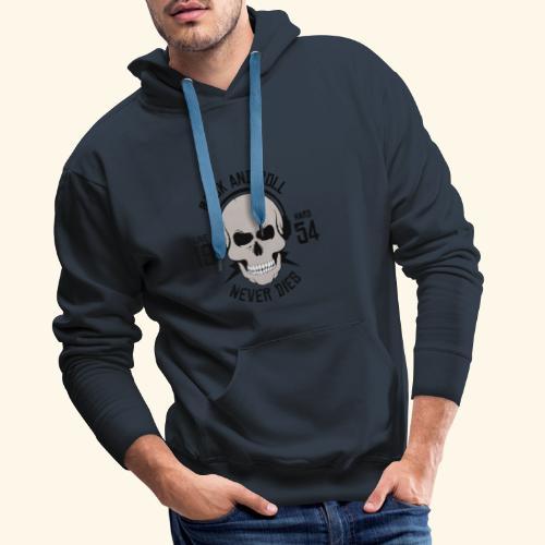 Rock and roll - Sweat-shirt à capuche Premium pour hommes