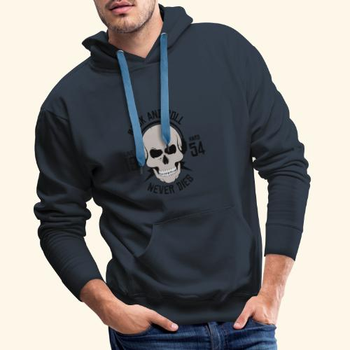 Rock and roll - Sweat-shirt à capuche Premium pour hommes