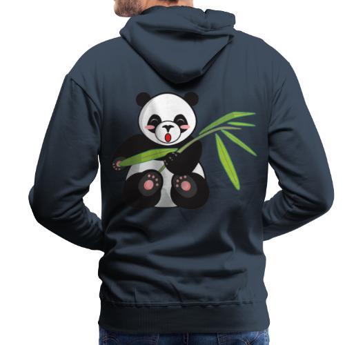 Panda x Levitation Blanc - Sweat-shirt à capuche Premium pour hommes