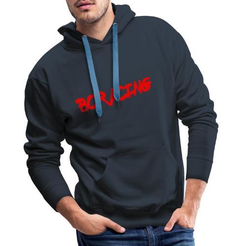 bcracing font red - Men's Premium Hoodie