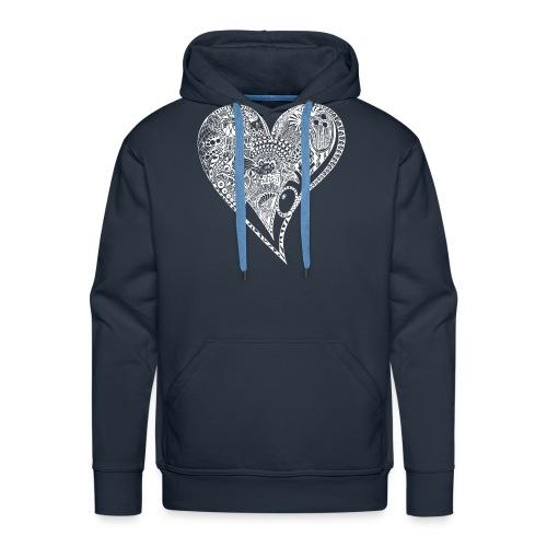 Heart white - Männer Premium Hoodie