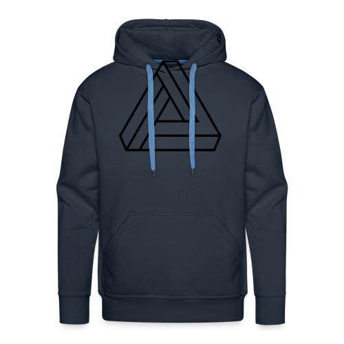 triangulos 1 - Sudadera con capucha premium para hombre