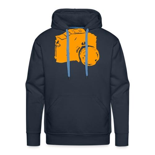 Männer T-shirt weiß/orange - Männer Premium Hoodie