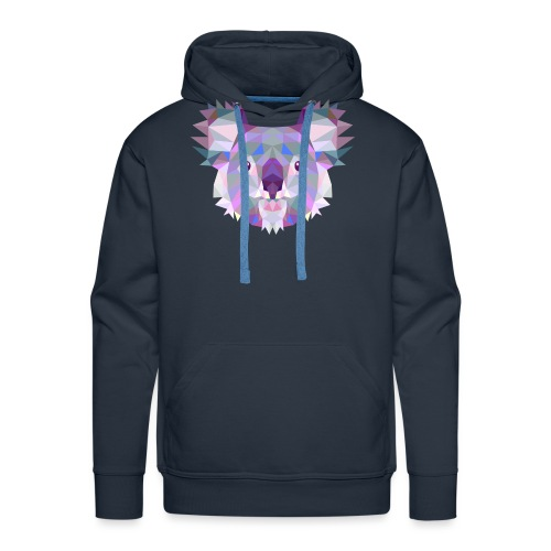 Triangle vector koala - Felpa con cappuccio premium da uomo