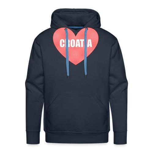Kroatien_Design_Herz - Männer Premium Hoodie