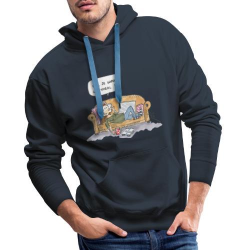 2020 10 Je garde le moral - Sweat-shirt à capuche Premium pour hommes