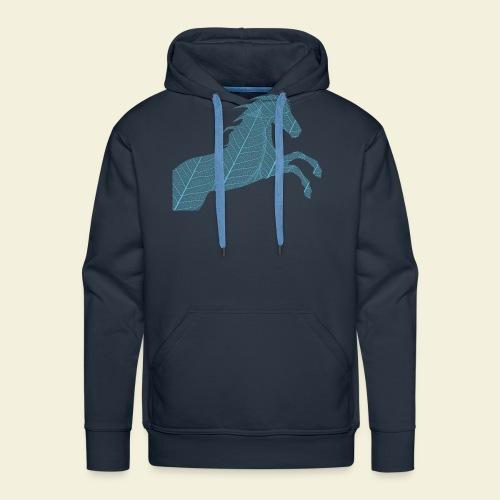 Cheval feuille - Sweat-shirt à capuche Premium pour hommes