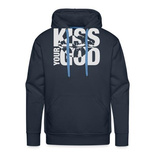 Kiss your God (weiß) - Männer Premium Hoodie