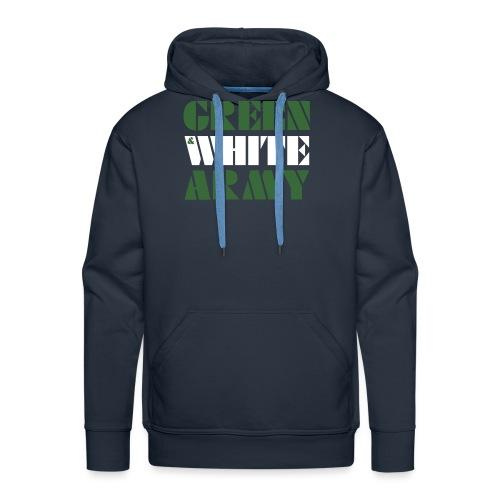 GREEN & WHITE ARMY _STENCIL_3 - Men's Premium Hoodie