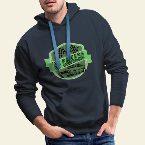 camaro logo - Herre Premium hættetrøje