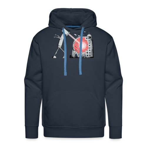 Robot Destroys City - Men's Premium Hoodie