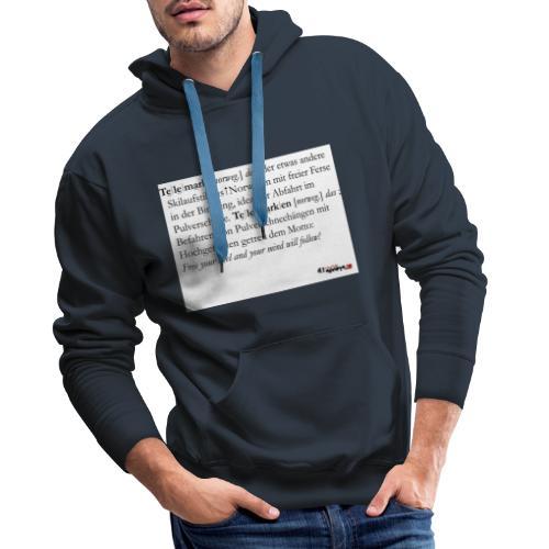 Telemark - die Definition - Männer Premium Hoodie