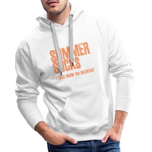 SUMMER SUCKS - Mannen Premium hoodie