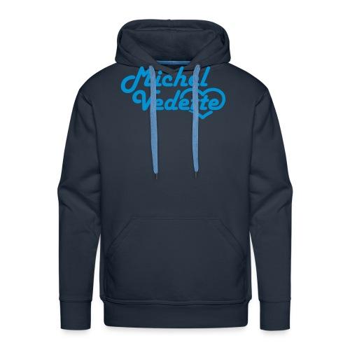 Logo Michel Vedette bleu cyan - Sweat-shirt à capuche Premium pour hommes