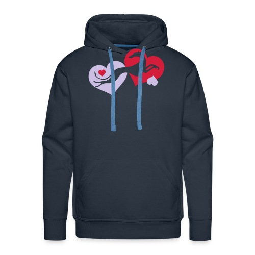 Lévrier Valentin - Sweat-shirt à capuche Premium pour hommes