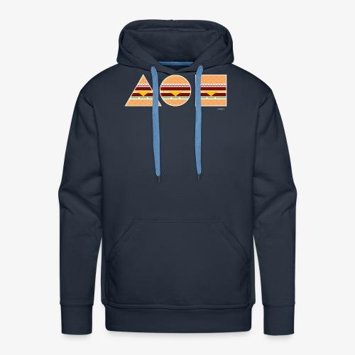 Graphic Burgers - Felpa con cappuccio premium da uomo