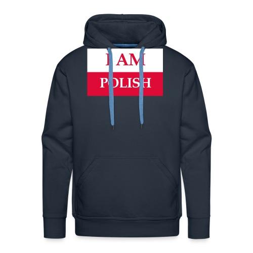 I am polish - Bluza męska Premium z kapturem