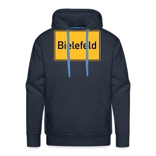Ortsschild Bielefeld - Männer Premium Hoodie