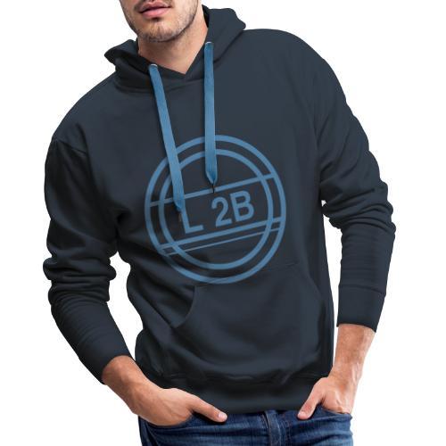 logo touw blauw - Mannen Premium hoodie