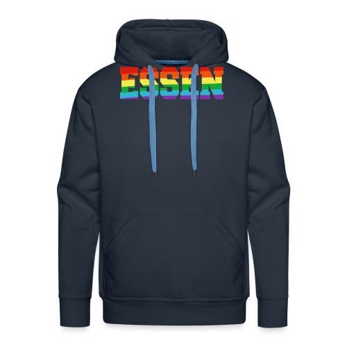 Essen Regenbogenfahne - Männer Premium Hoodie