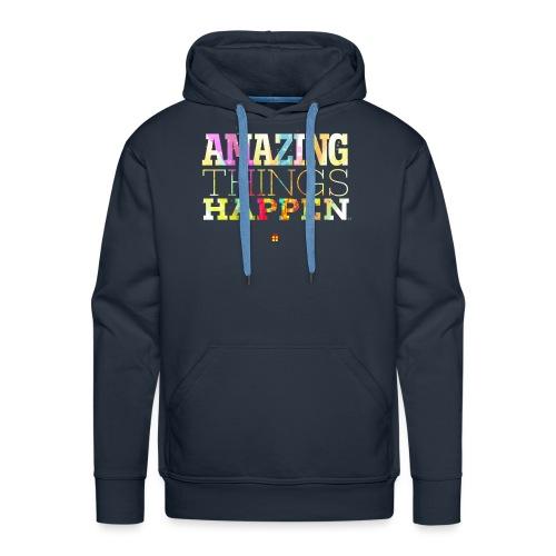 Amazing Things Happen - Simplified - Men's Premium Hoodie