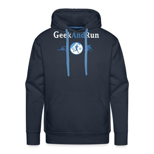 geekandrun - Sweat-shirt à capuche Premium pour hommes