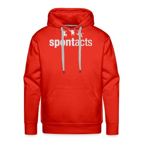 spontacts_Logo_weiss - Männer Premium Hoodie