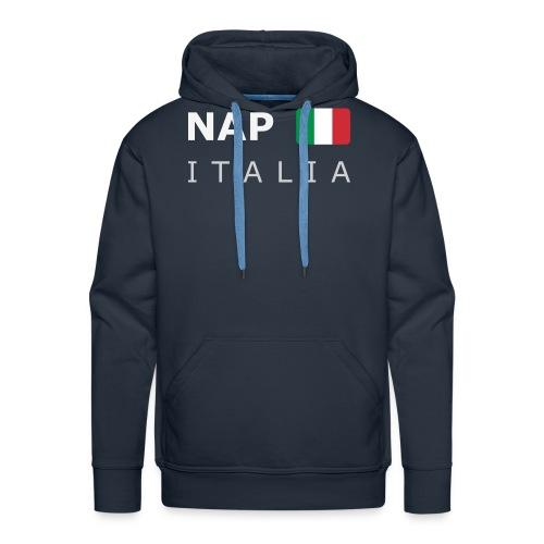 NAP ITALIA white-lettered 400 dpi - Men's Premium Hoodie