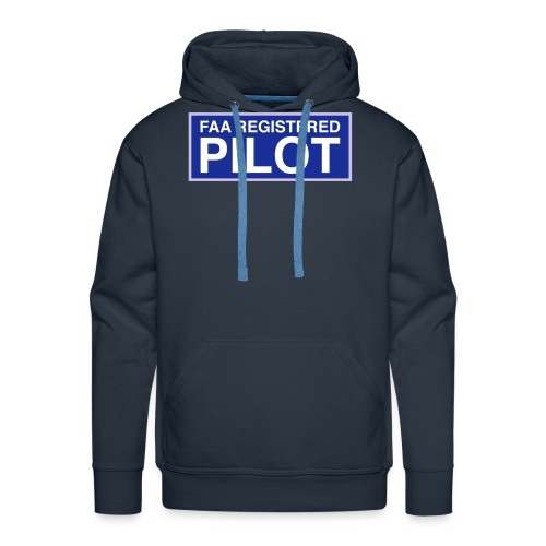 faa part 107 registered pilot - Men's Premium Hoodie