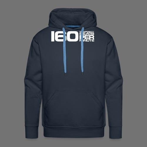 160 BPM (białe długie) - Bluza męska Premium z kapturem
