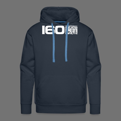 160 BPM (white long) - Men's Premium Hoodie
