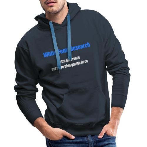 WFR Votre différence est votre plus grande force - Sweat-shirt à capuche Premium pour hommes