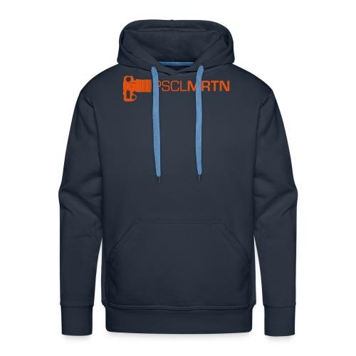 Black on Black with Orange Neck - Männer Premium Hoodie