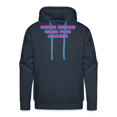 paysan cherche femme - Sweat-shirt à capuche Premium pour hommes