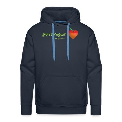 Roh & Vegan rotes Apfelherz (Rohkost) - Männer Premium Hoodie