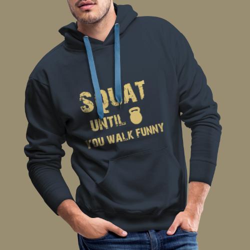 shirtsbydep squat - Mannen Premium hoodie