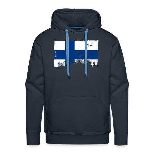 Suomen lippu, Finnish flag T-shirts 151 Products - Miesten premium-huppari