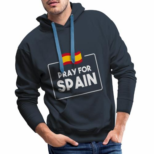 Pray for Spain (dark) - Men's Premium Hoodie