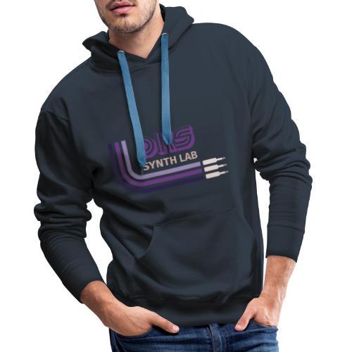 DKS SYNTH LAB Curved Purple - Felpa con cappuccio premium da uomo