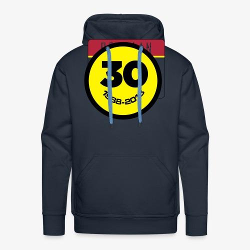 30 Jaar Belgian New Beat Smiley - Mannen Premium hoodie