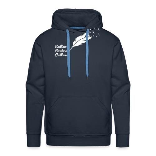Culture contre Culture par éoline - Sweat-shirt à capuche Premium pour hommes