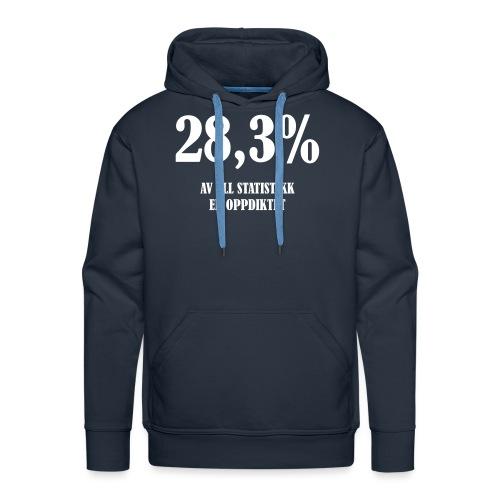 28,3 prosent av all statistikk er oppdiktet